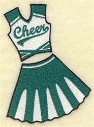 Cheerleaders Uniform embroidery design