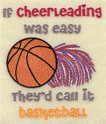 Cheerleading Basketball embroidery design