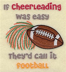 Cheerleading Football embroidery design