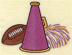 Football Megaphone embroidery design
