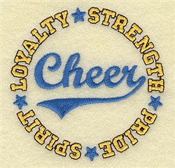 Cheer Circle embroidery design