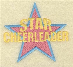 Star Cheerleader embroidery design