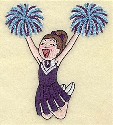 Cheerleader Girl embroidery design