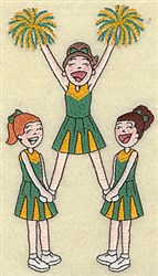 Cheerleader Extension embroidery design