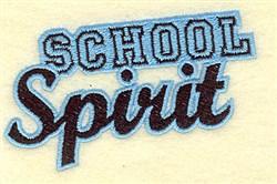 School Spirit embroidery design
