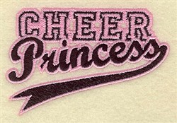 Cheer Princess embroidery design