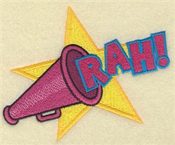 Cheer Rah embroidery design