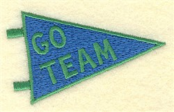 Go Team Banner embroidery design