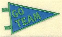 Go Team Applique embroidery design
