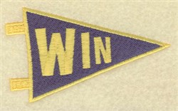 Win Banner embroidery design