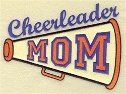 Cheerleader Mom Applique embroidery design