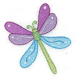 Pretty Dragonfly embroidery design