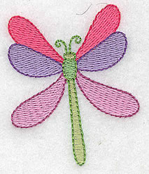 A Dragonfly embroidery design