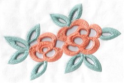 Cutwork Flowers embroidery design