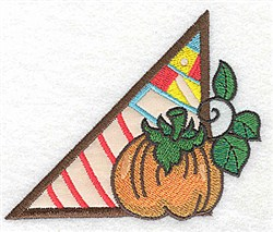 Corner Pumpkin embroidery design
