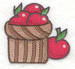 Basket Of Apples embroidery design