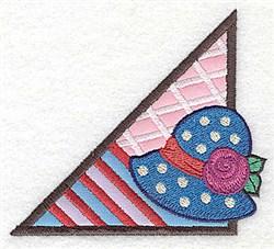Ladies Hat Corner embroidery design