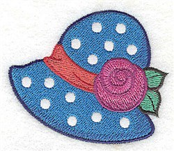 Ladies Hat embroidery design