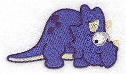 Happy Dinosaur embroidery design