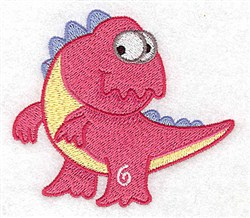 Silly Dinosaur embroidery design