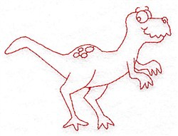 Redwork Dinosaur embroidery design
