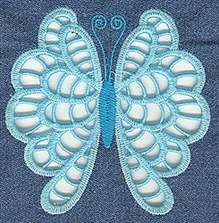 Scalloped Butterfly Cutwork embroidery design