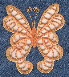Swallowtail Cutwork embroidery design