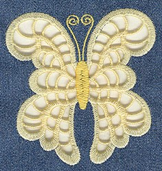 Bow Butterfly Cutwork embroidery design