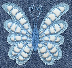Baby Butterfly Cutwork embroidery design