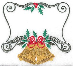 Christmas Bell Frame embroidery design