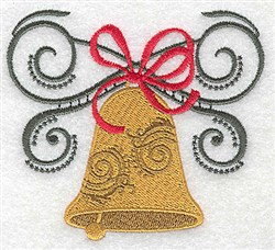 Bell & Bow embroidery design