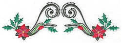 Poinsettia Spray embroidery design