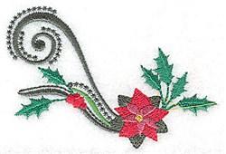 Single Poinsettia Swirl embroidery design