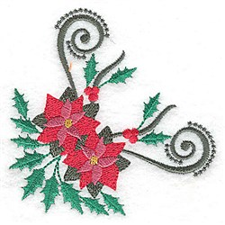 Poinsettia Corner embroidery design