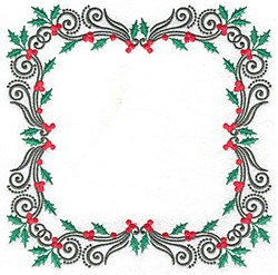 Holly Block embroidery design