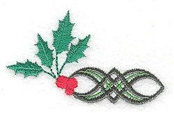 Holly Short Edge embroidery design