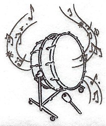 Bass Drum embroidery design