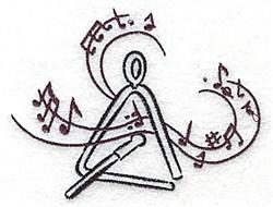 Triangle embroidery design