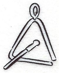 Triangle Outline embroidery design