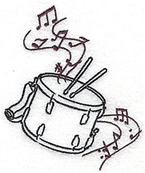 Snare Drum embroidery design