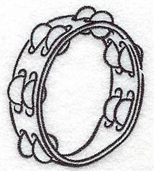Tambourine Outline embroidery design