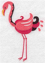 Lovely Flamingo embroidery design