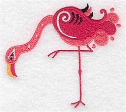 Cute Flamingo embroidery design