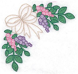 Bow And Berries embroidery design