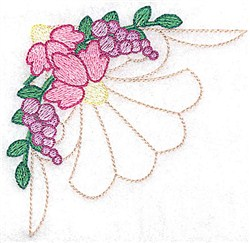 Echinacea And Berries embroidery design