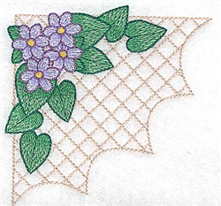 Flowers On Grid embroidery design