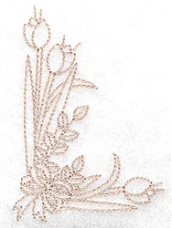 Tulip Corner embroidery design