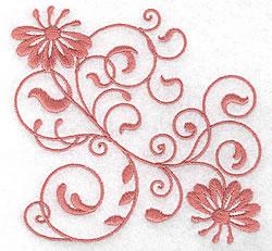 Decorative Floral Design embroidery design