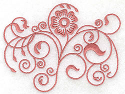 Floral Swirl Design embroidery design