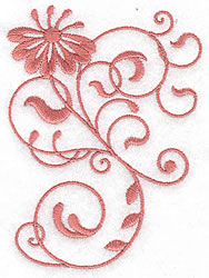 Floral Scroll embroidery design